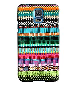 Blue Throat Colored Pattern Hard Plastic Printed Back Cover/Case For Samsung Galaxy S5