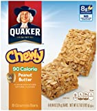 Quaker Peanut Butter Chewy Granola Bars 90 Calories, 8 Bars per Pack (Pack of 6)