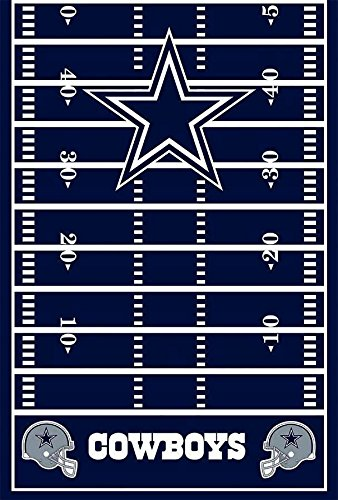 "DesignWare Dallas Cowboys Plastic Table Cover, 54 by 102"" - 1"
