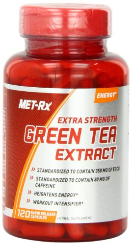 Met-Rx Extra Strength Green Tea Extract Capsules, 120 Count