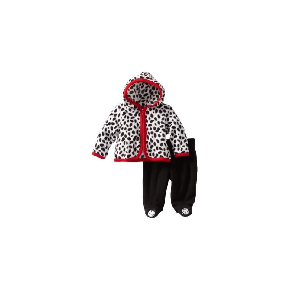 Vitamins Baby boys Newborn 2 Piece Spot Hooded Pant Set, Black, 3 Months