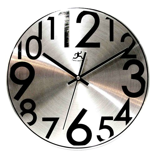 Infinity Instruments Silver Twinkle-12&quot; Metal Wall Clock