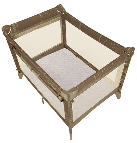 Kushies Certified Organic Play Pen Fitted Sheet, Mocha