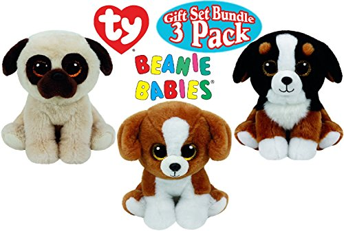 ty-beanie-babies-dog-gift-set-bundle-featuring-roscoe-rufus-snicky-3-pack