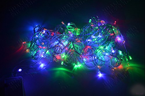 Gorgeouseve 8 Modes 10M 100 Bright Led Waterproof Outdoor String Lights Xmas Decorations Lights Idea Colorful Led Holiday Lights For Festivals Home And Garden With 110V Plug (Multicolor, 10M)