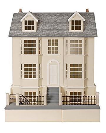 1:12 maison de poupées Régence Town Maison & sous-sol non peinte plat paquet MDF bois KIT