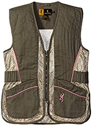 Browning Junior Vest for Her, Sage/Pink, XX-Large