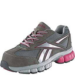 RB445 Reebok Women\'s Cross Trainer Safety Shoes - Grey - 12.0\\W