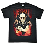 Stooble Men's Nosferatu Black T-Shirt, Size XL