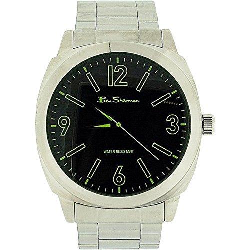 Ben Sherman Gents Green Dial Silver Tone Metal Bracelet Strap Dress Watch BS039