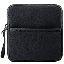 VicTsing Shockproof External USB CD DVD Writer Blu-Ray Hard Drive Neoprene Protective Storage Carrying Sleeve Case Pouch Bag with Extra Storage Pocket for External USB CD DVD Blu-Ray Driver Black