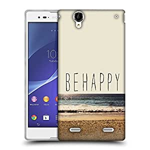 Snoogg Be Happy Designer Protective Back Case Cover For Sony Xperia T2 Ultra