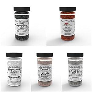 Sea Salt - Himalayan Salt - French Grey Salt - Black Salt - Red Salt - Wholesale - Best Seller - Exotic Salts From Salts Worldwide (Black Hawaiian Salt, 1 Jar)