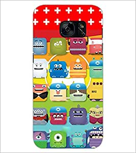 PrintDhaba Cartoon D-2812 Back Case Cover for SAMSUNG GALAXY S7 (Multi-Coloured)