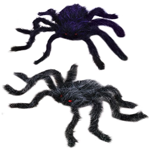 20-inch Bendable Hairy Spider (2-PACK)