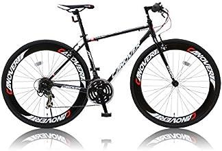 CANOVER(カノーバー) 700×28C クロスバイク シマノ21段変速グリップシフト 前後ディープリム 前後Vブレーキ LEDライト標準装備 CAC-025 NYMPH(ニンフ) ブラック