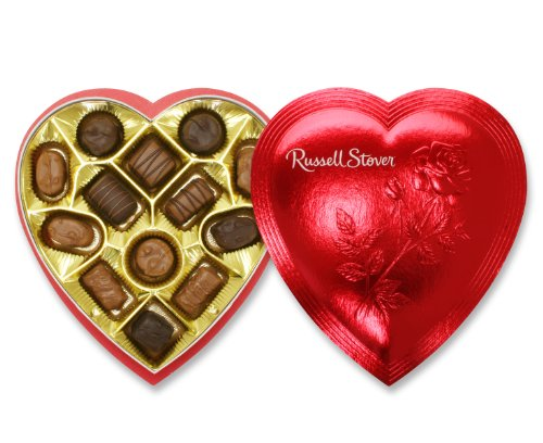 Russell Stover 7 Oz. Assorted Chocolates Red Foil Valentine Heart