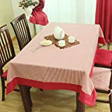 Elegant Table Cloth, Polyester Striped, Pink