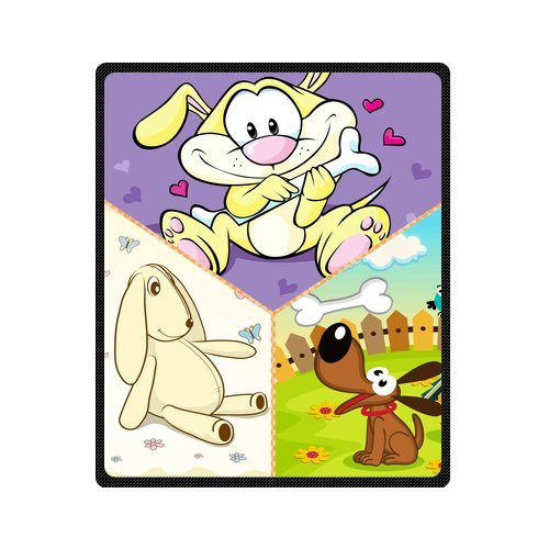 "Personalized Cute Dogs Jigsaw Blanket 50""X 60""(Medium) front-832023"