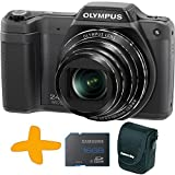 Bundle: Olympus Stylus SZ-15 Super Zoom Black Digital Camera + Samsung 16GB Memory Card + Allcam Camera Case (16MP, 24x Wide Optical Zoom, 3 inch LCD, Intelligent Auto)