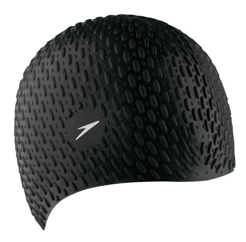 Speedo Bubble Cap Silicone Black or White