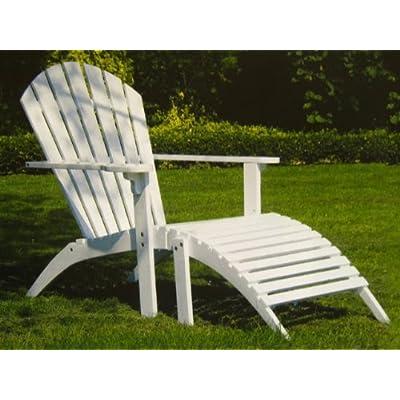 relaxliege liegestuhl weiss sonla sonnenliege holz gartenliege weiss deckchair. Black Bedroom Furniture Sets. Home Design Ideas