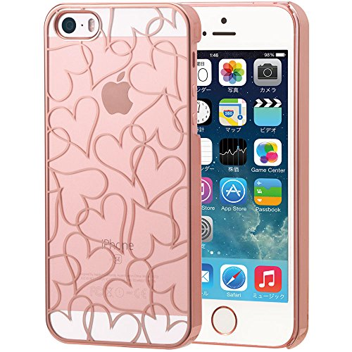 EDGEi RoseGold HeartLine iPhone SE / 5s / 5 (4インチ) 2016年モデル エッジローズ ゴールドハートライン アイフォンケース