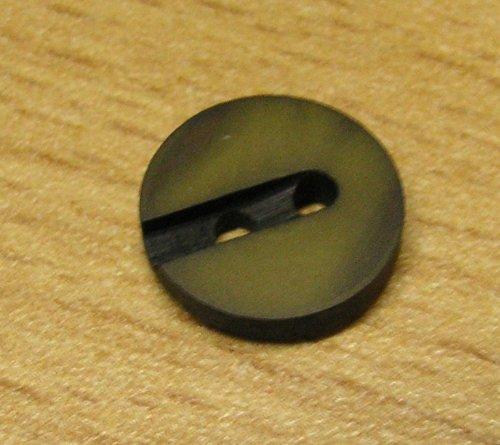 5 Hemden Blusen Knöpfe 12 mm messing schwarz