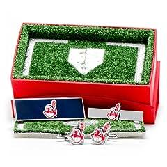 Cleveland Indians 3-Piece Gift Set by Cufflinks