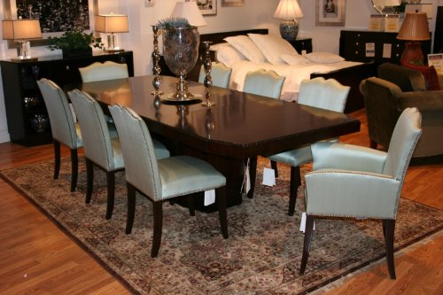 Ralph Lauren Avalon Dining Room Set With Silk Dining Chairs (0500 20,(See  Options))