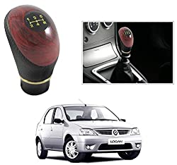 AutoStark Black and Wood Gear Knob/ Gear Shift Knob For Mahindra Logan