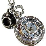 Alice in Wonderland Tea Party Steampunk pocket watch necklace pw1-Umbrella laboratory