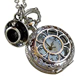 Alice in Wonderland Tea Party Steampunk pocket watch necklace pw1-Umbrella laboratory