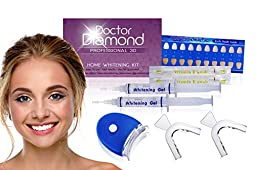Dr. Diamond Complete 3D At-Home Teeth Whitening Kit Rated #1 In the USA- Deluxe Edition