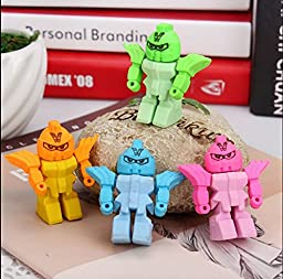 4 x Turtle shaped erasers Rubbers! Party Bag! Treat! Eraser! Novelty! kids gift (Robot shaped)