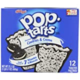 Pop-Tarts, Frosted Cookies & Cream, 12-Count Tarts (Pack of 6), 21.1oz ~ Pop-Tarts