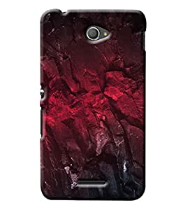 Blue Throat Stone Effect Of Red Printed Printed Designer Back Cover For Sony Xperia E4