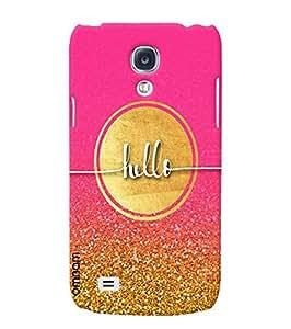 Omnam Hello Pink Golden Combinatio Designer Back Cover Case for Samsung Glaxy S4