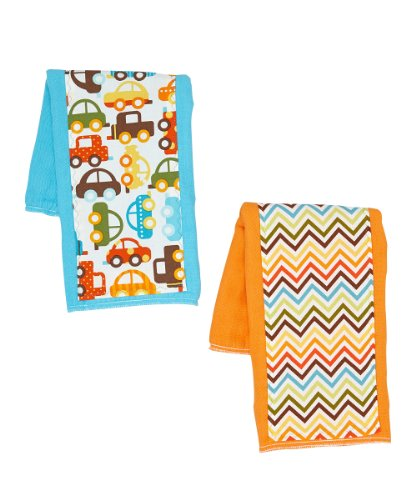 Boys Burp Cloth Set of 2- Cars & Trucks
