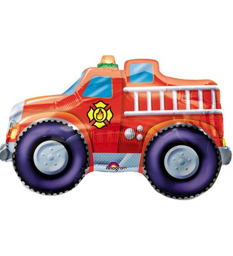 Rescue Team Fire Engine Flat Super Shape Balloon