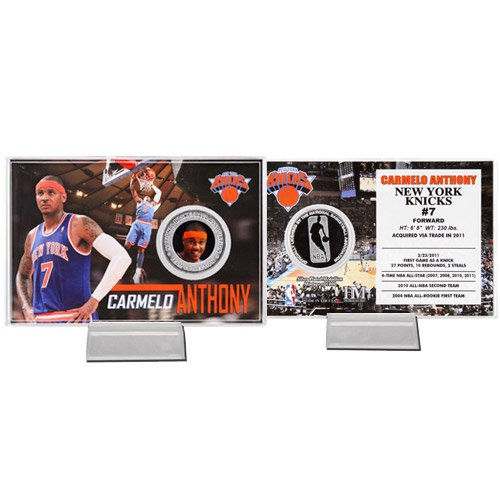 Carmelo Anthony Knicks Silver Coin Card