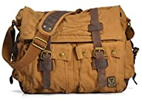 "Vintage""Colonial"" Large Canvas Military Style Backpacks,Messager and Postman Bags(L)"