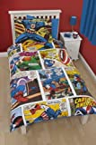 Character World 135 x 200 cm Disney Marvel Captain America USA Single Panel Duvet Set by Character World
