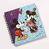 Enesco Disney by Britto Mickey/Minnie Spiral Notebook Journal, 0.65-Inch