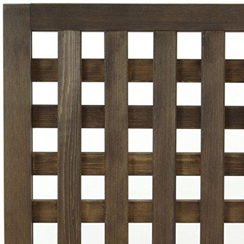 特注ラティスフェンス匠(目隠し)・縦横格子・ブラウン・木製(高さ+横幅=合計270cm以内)(ウッドフェンス)