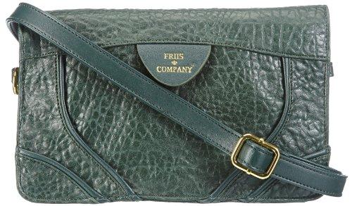 Friis & Company Womens Gariny Libre Shoulder Bag Handbag Gray Grau (Dark Green) Size: 15x26x5 cm (B x H x T)