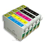 5 Moreinks Compatible Printer Ink Cartridges to replace Epson T0715 - Cyan, Magenta, Yellow, Blackby Moreinks