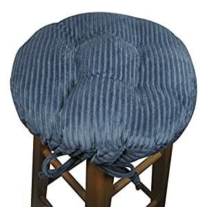 Round Bar Stool Cover With Adjustable Drawstring Yoke Wide Wale