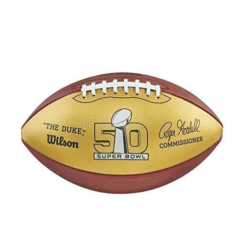 Super Bowl 50 Limited Edition Gold Football
