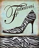 Zebra Shoe Art Poster Print by Todd Williams, 11x14 Art Poster Print by Todd Williams, 11x14